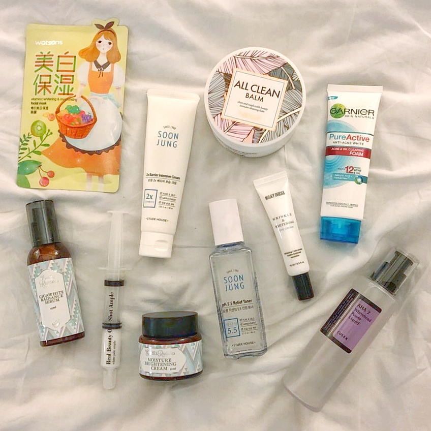 Renee's current skincare products