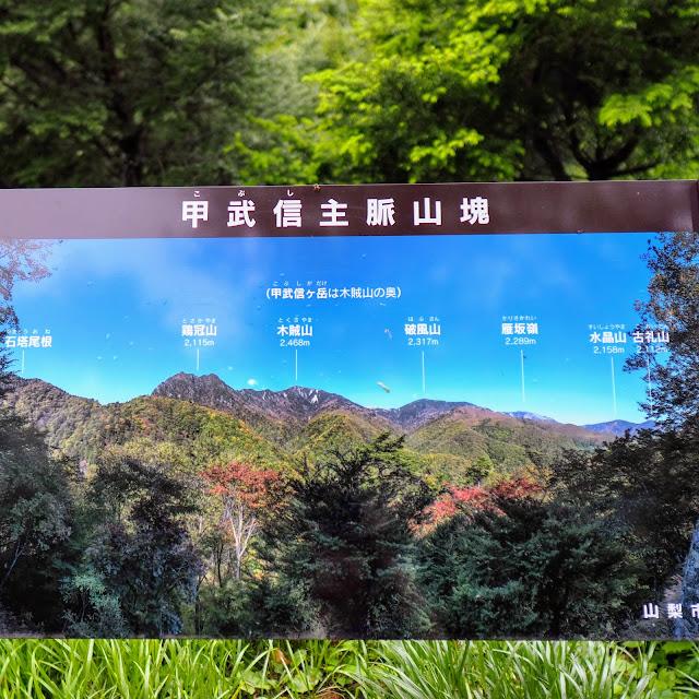 西沢渓谷 大展望台 説明看板