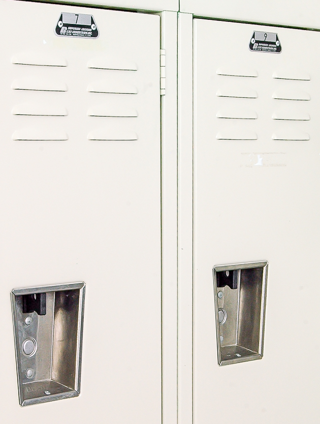 lockers, vintage, office