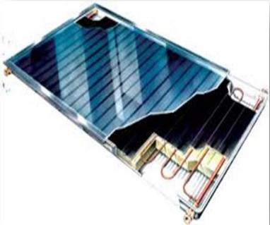 السخان الشمسي المسطح المستخدم لتسخين المياه