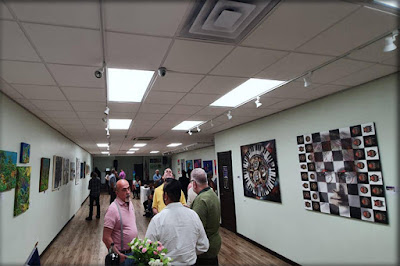 """Obras de Ramón Rivas en la Sala. Exposición """"Reflecting Source"""", Manhattan (Nueva York)"""