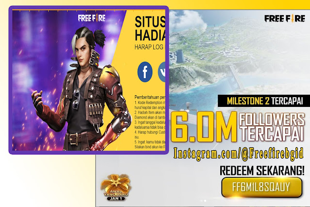 redemption code free fire