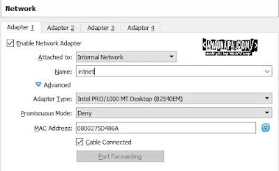 Internal Network Pada Virtualbox