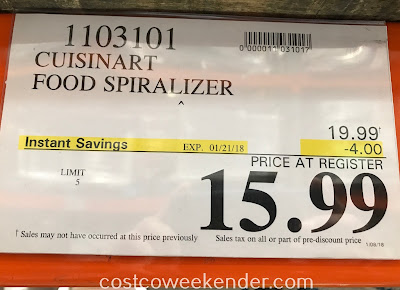 Deal for the Cuisinart Food Spiralizer at Costco