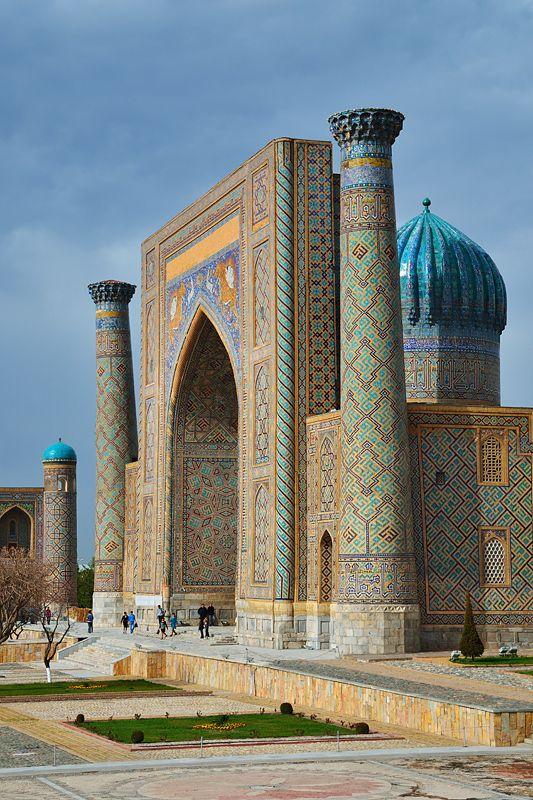Independent Introducing Broker - Sher-dor Madrasah in the Registan - Samarkand, Uzbekistan (1619–1636)