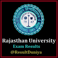 UniRaj Rajasthan University BA Part 3 Result 2020