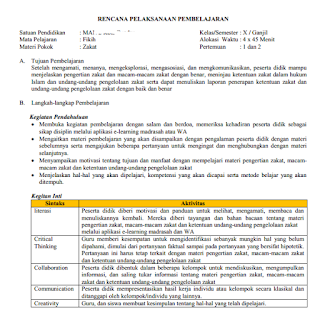 RPP Daring Zakat (Kelas 10 MA)