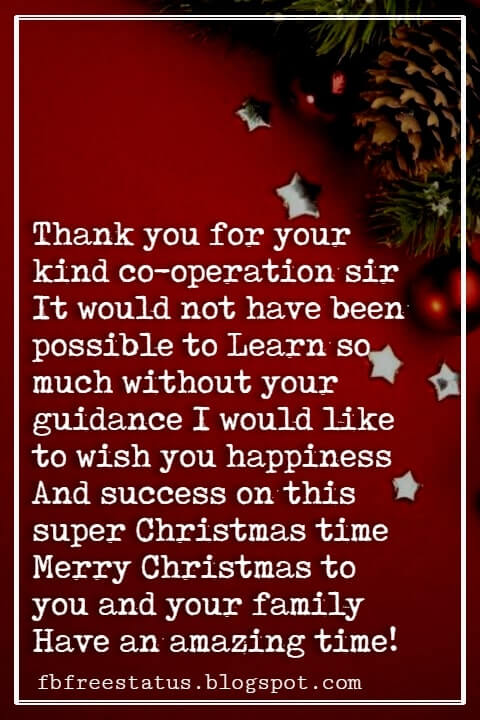 Christmas Messages For Boss