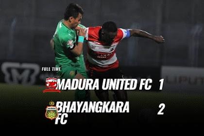 Hasil Pertandingan Liga 1, Madura United vs Bhayangkara FC 1-2