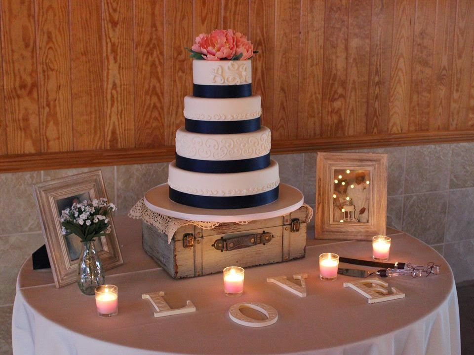 Cakes By Becky Navy Amp Coral Wedding Cake And An