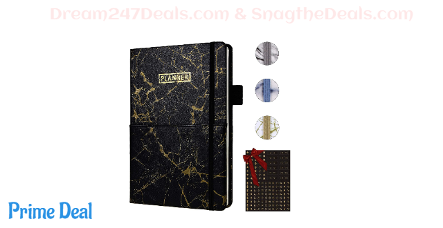 "50% OFF SynLiZy A5 Undated Planner Agenda Appointment Book Academic Weekly & Monthly Planner 12 Months 53 Weeks 5.7"" x 8.3"""