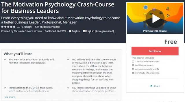[100% Free] The Motivation Psychology Crash-Course for Business Leaders