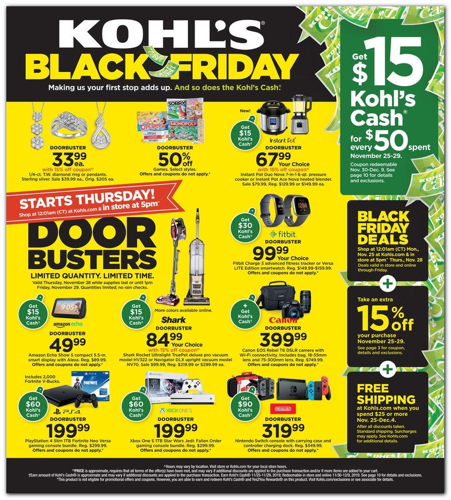 Kohl's Black Friday 2019