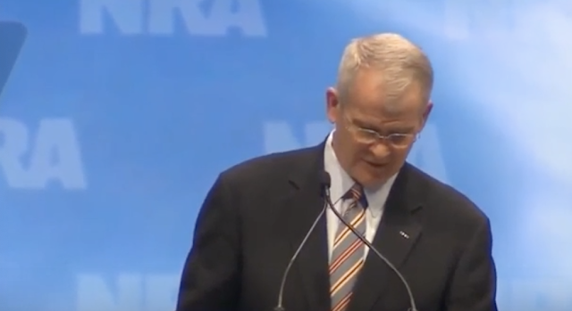 NRA PRESIDENT OLIVER NORTH STEPS DOWN FROM GUN RIGHTS GROUP AMID EXTORTION ALLEGATIONS FROM CEO WAYNE LAPIERRE