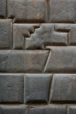 Part of a wall in Cuzco has 14 angles.
