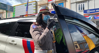 Kasat Lantas Polres Luwu Timur Gencar Sosialisasi Tentang Pencegahan Virus Corona dan Beri Himbauan