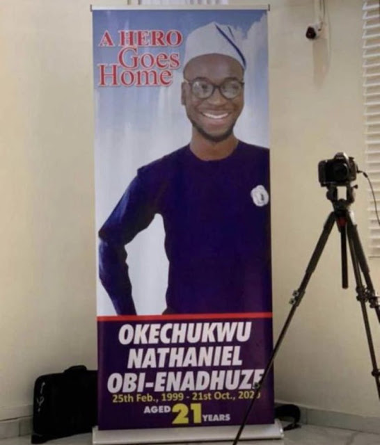 """EndSARS protester, Oke, who was shot dead in Lagos 3 hours after tweeting ""Nigeria will not end me"", has been laid to rest"""