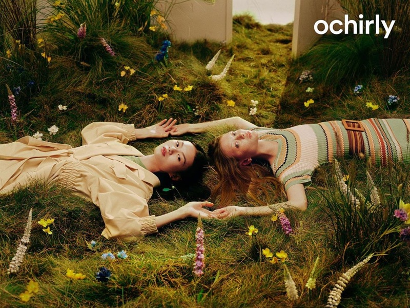 He Cong and Sara Grace Wallerstedt star in Ochirly spring-summer 2020 campaign