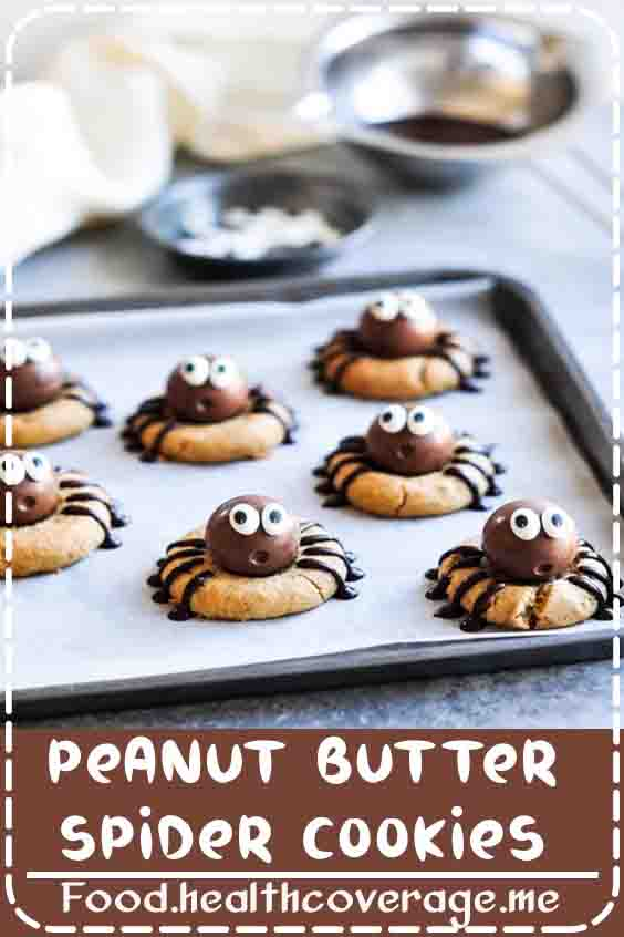 These Peanut Butter Spider Cookies are a cute and chocolatey Halloween treat!