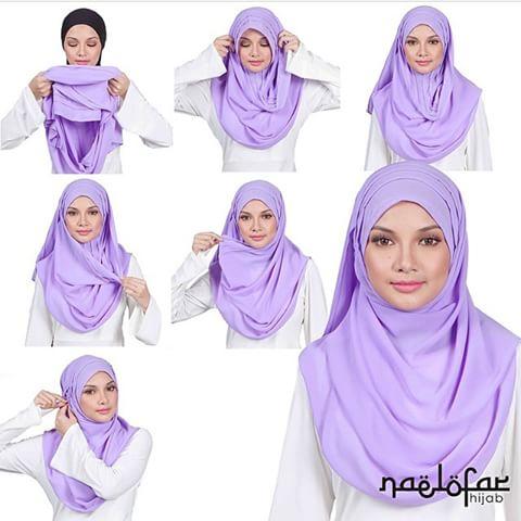 8+ Cara Pakai Shawl Ala Neelofa (Naelofar Hijab Tutorial)