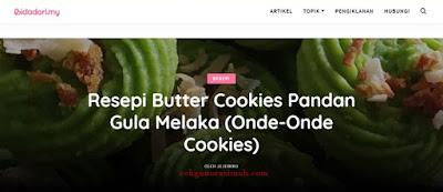 cerita review, resepi mudah, blog resepi, blog menarik, website resepi, resepi mudah,kerabu sotong, mee celup, butter cookies pandan gula melaka