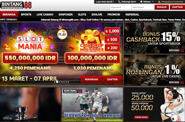 Bintang88: Situs Slot Online Deposit Pakai Pulsa Tanpa Potongan