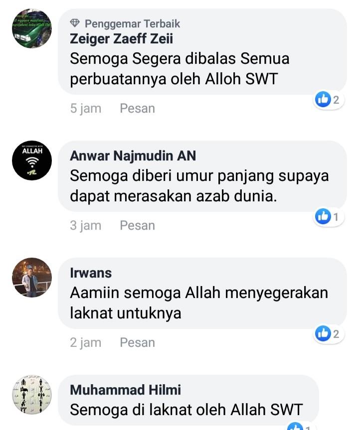 Doakan Abu Janda Umur Panjang, Netizen: Supaya Rasakan Azab