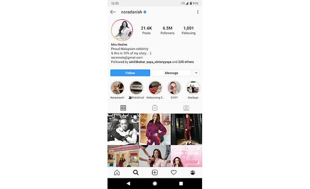 senarai top 10 individu paling ramai followers instagram di malaysia