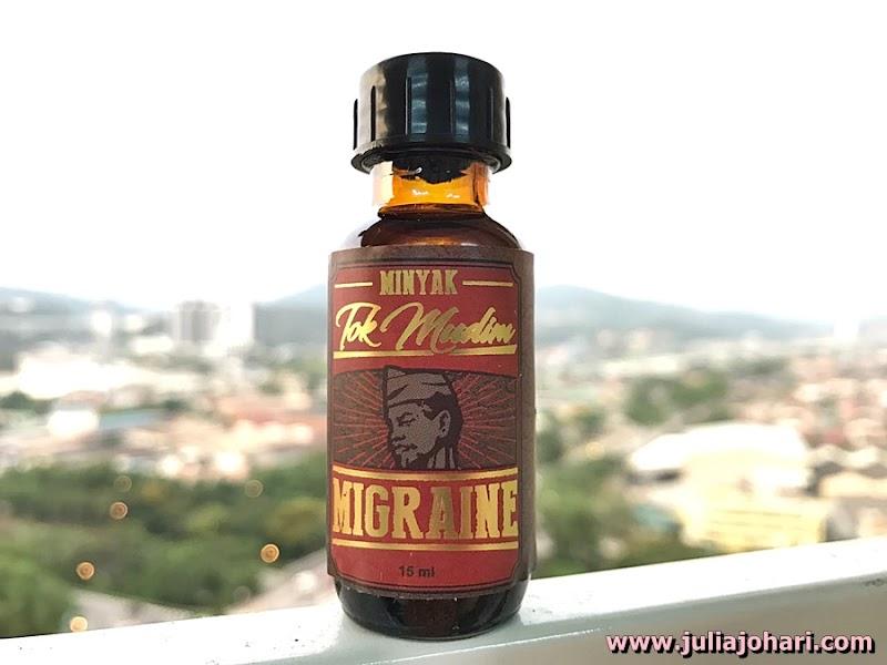 Minyak Tok Mudim Migraine Penawar Sakit Kepala Teruk !