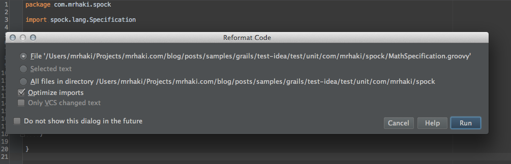 IntelliJ IDEA Knows How to Format Spock where: Blocks