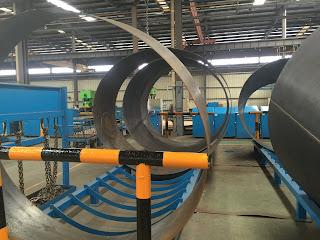 một khâu trong dây truyền sản xuất bồn trộn bê tông