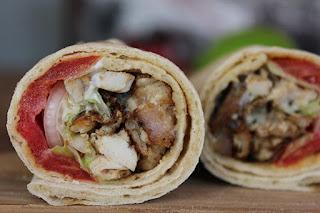 Durum, kebab de pollo casero