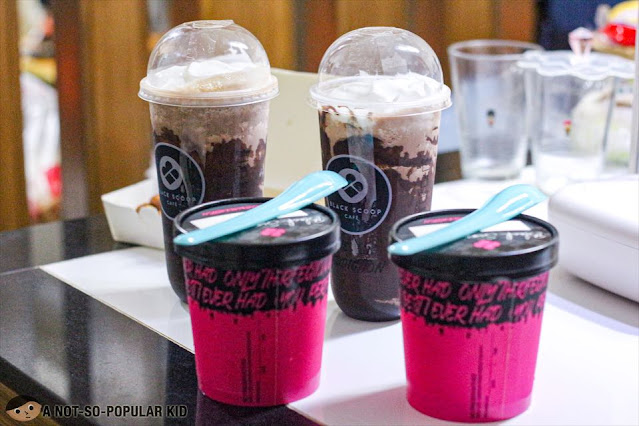 Black Scoop Delivery - Ghirardelli Shake and Ice Cream Tub
