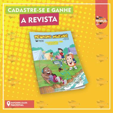 Brindes Grátis - Solicite a Revista Devotos Mirins