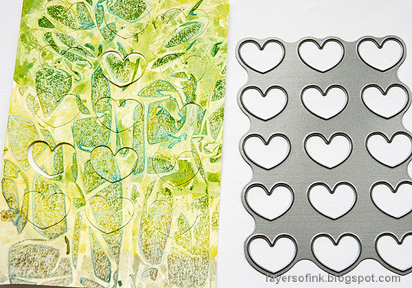 Layers of ink - Heart Background Card Tutorial by Anna-Karin Evaldsson. Simon Says Stamp Chunky Heart.