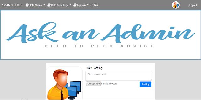 Sistem Informasi Alumni Sekolah - Download Program Gratis - Posting Admin