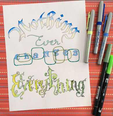 nothing ever changes everything adult coloring page, stefanie Girard