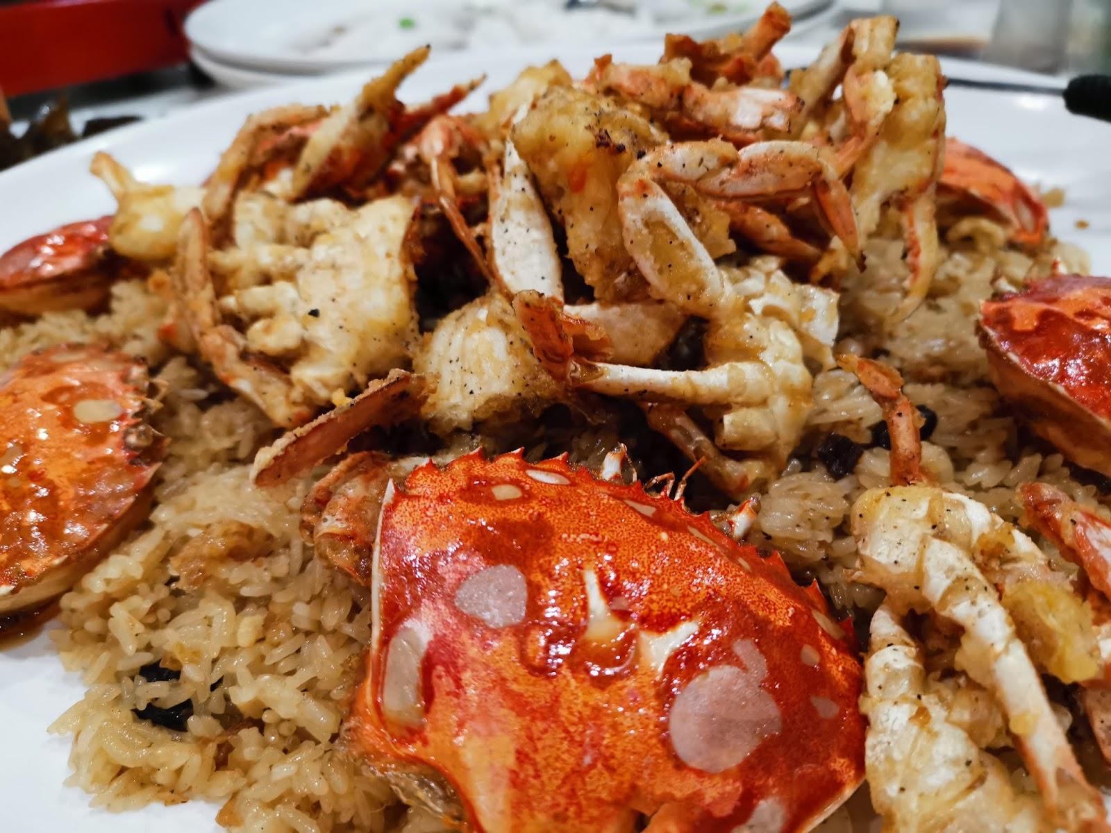 基隆港海產樓螃蟹油飯