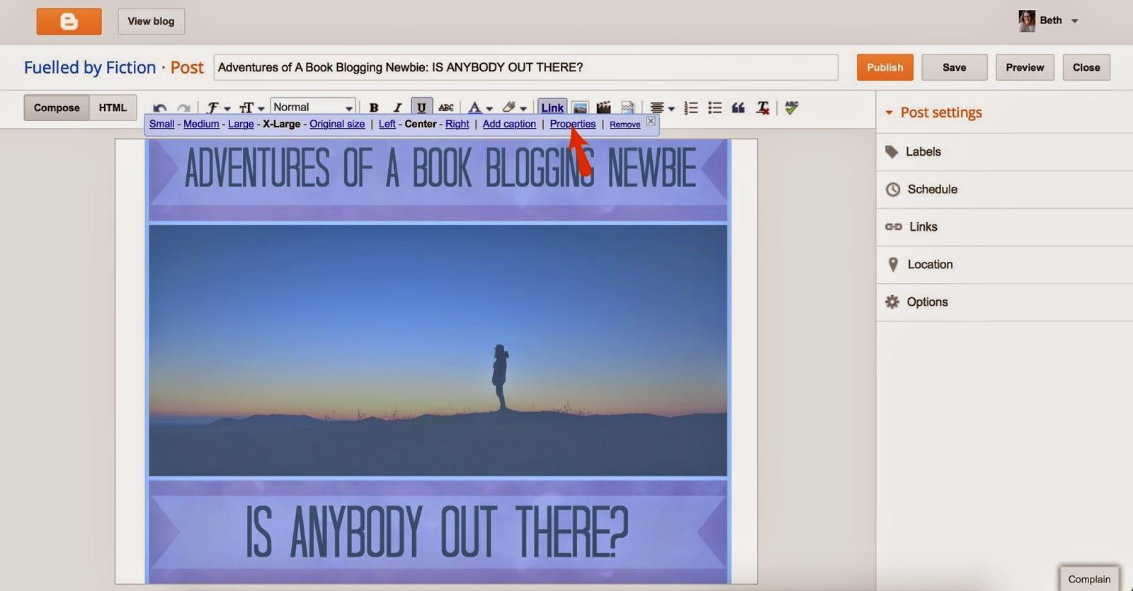 Blogger image tag tutorial