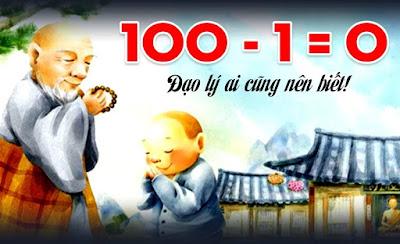 """Cách xóa bỏ """" Đạo lý 100 – 1 = 0"""" để sống tốt hơn"""