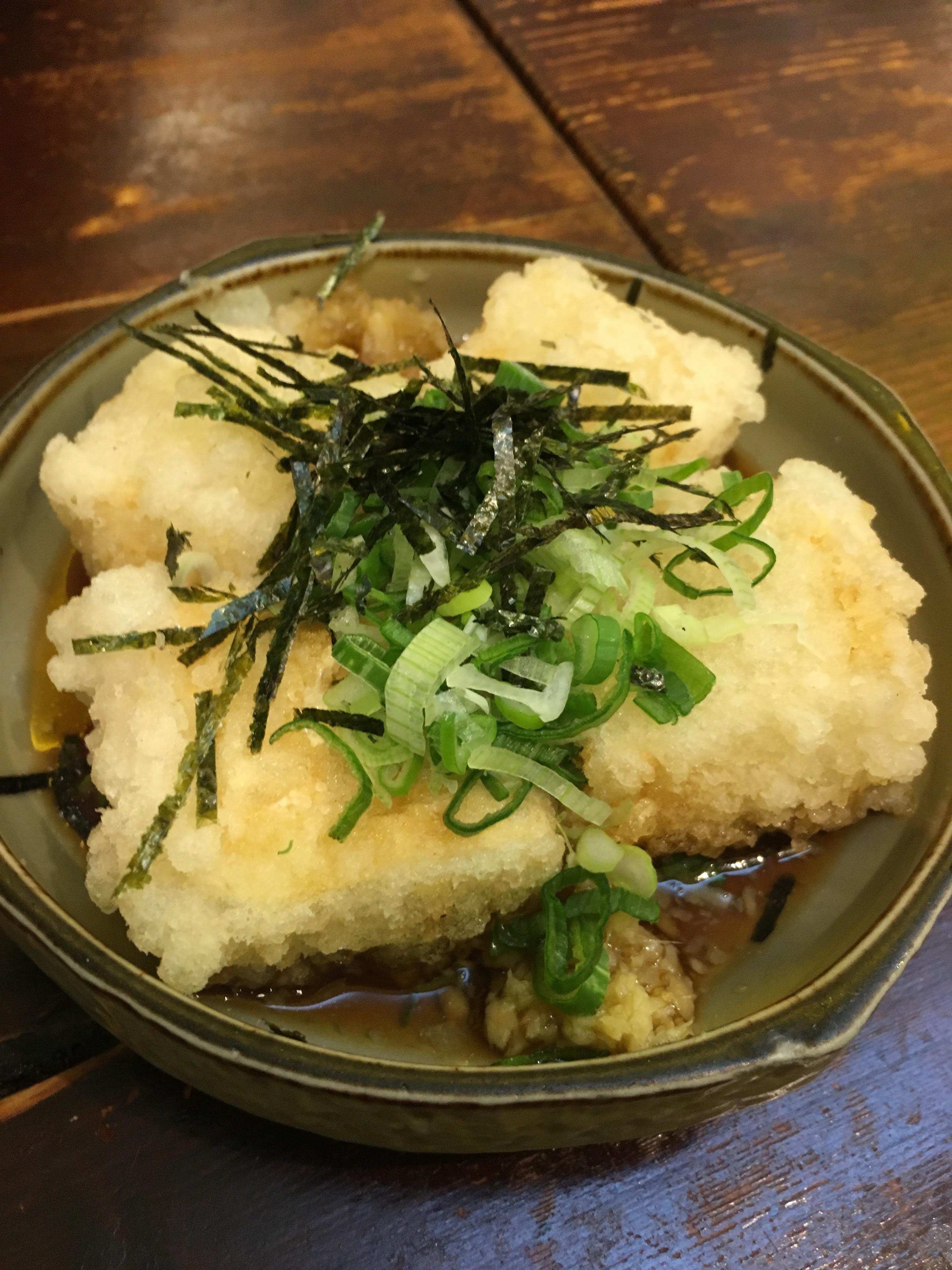 dotori agedashi tofu food blogger