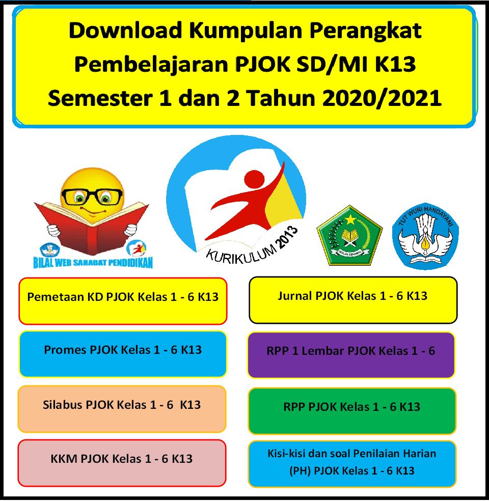 Download Kumpulan Rpp 1 Lembar Pjok Sd Mi K13 Semester 1 Dan 2 Tahun 2020 2021 Bilal Web Inspirasimilenial