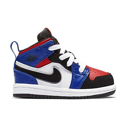 low priced 919e8 c6213 Nike Boy's Air Jordan Retro 1 Shoe, White/Black/Hyper Royal/University Red,  5 M US Toddler 2019