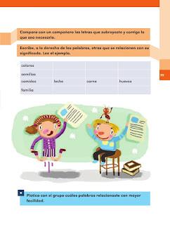 Apoyo Primaria Español 2do grado Bloque 2 lección 18 Palabras en la leyenda