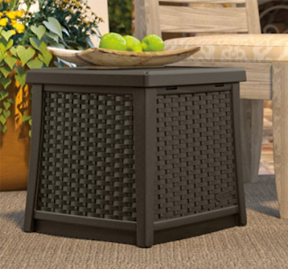 Suncast Elements End Table with Storage