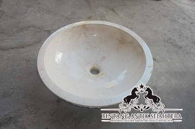 Wastafel Marmer Bulat