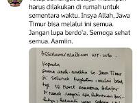 Kecuali Peserta UN (SMK), Gubernur Khofifah Liburkan Sementara Sekolah di Jawa Timur