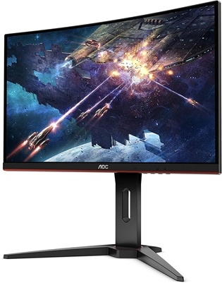AOC C24G1: curved gaming monitor with Full HD resolution, 144 Hz refresh rate and 1 ms response