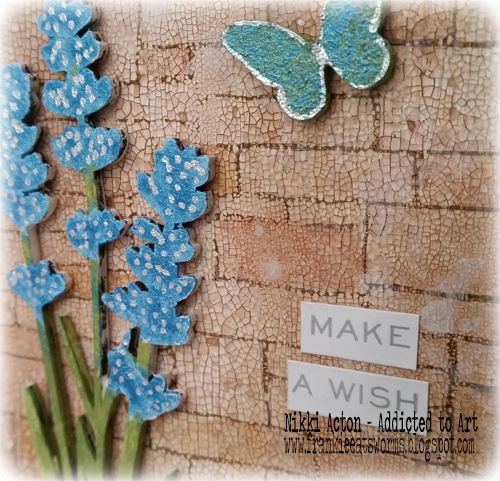 That's Crafty Upright with Deco Art Media and That's Crafty embellishments and shimmer paint - by Nikki Acton