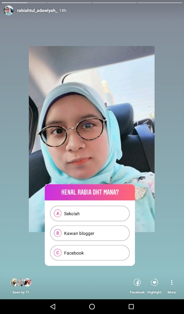 Quiz And Ask Me A Question At My Instagram Blog Rabia Adawiyah